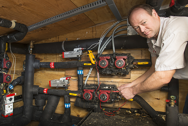 Warren with geothermal pumps