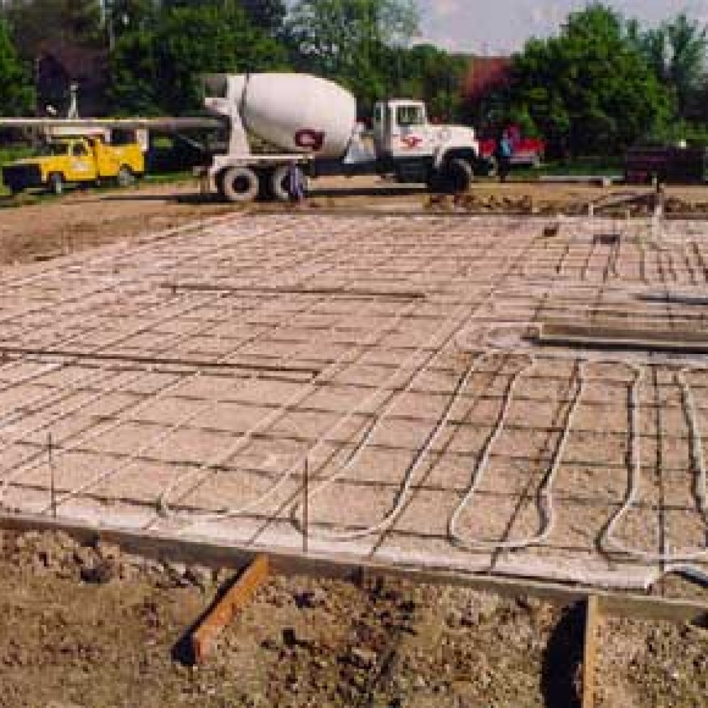 The cost of in floor heating - In Floor Heating Tubing During Construction Phase