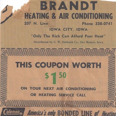 Brandt Heating old coupon