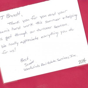 westwinds testimonial for Brandt Heating
