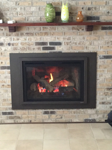 Firebrick style insert - Make Wood Burning fireplace into Gas Burning