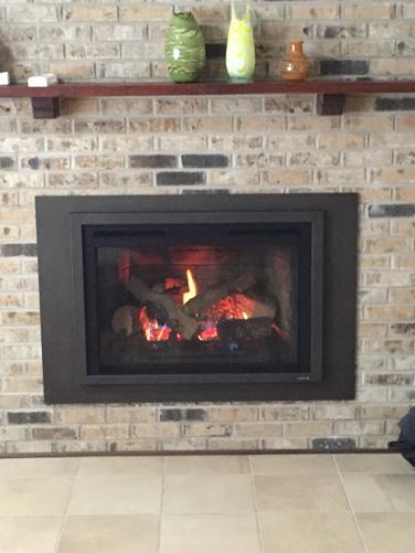 Firebrick style insert - Make Wood Burning fireplace into Gas Burning