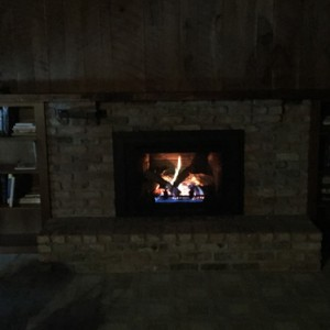 Fireplace After Gas Insert Was Installed - Iowa City - Brandt