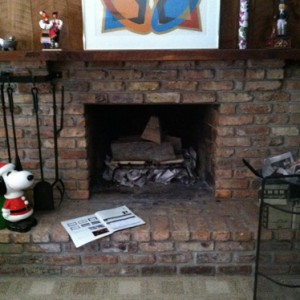 Wood Fireplace Before Fireplace Insert is Installed