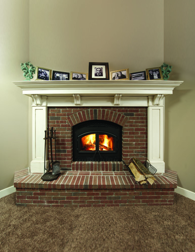 Wood burning fireplace WOOD BURNING Fireplace Brandt Heating and Air Conditioning