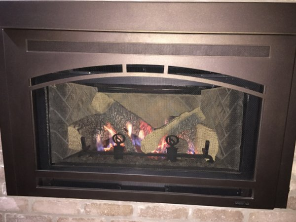 Quadra-Fire Metal Gas Fireplace Insert