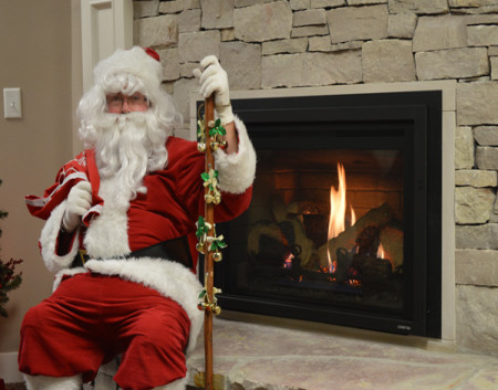 A Santa-Approved Fireplace
