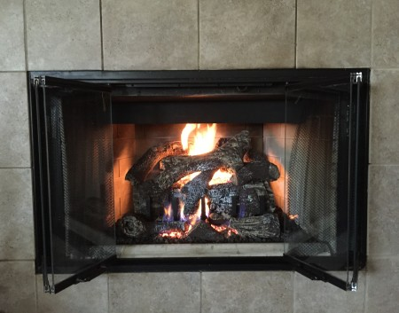 Gas Log Fireplace